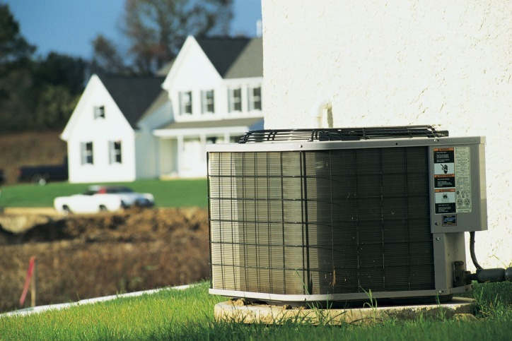 Air conditioning unit outside of a Residential home